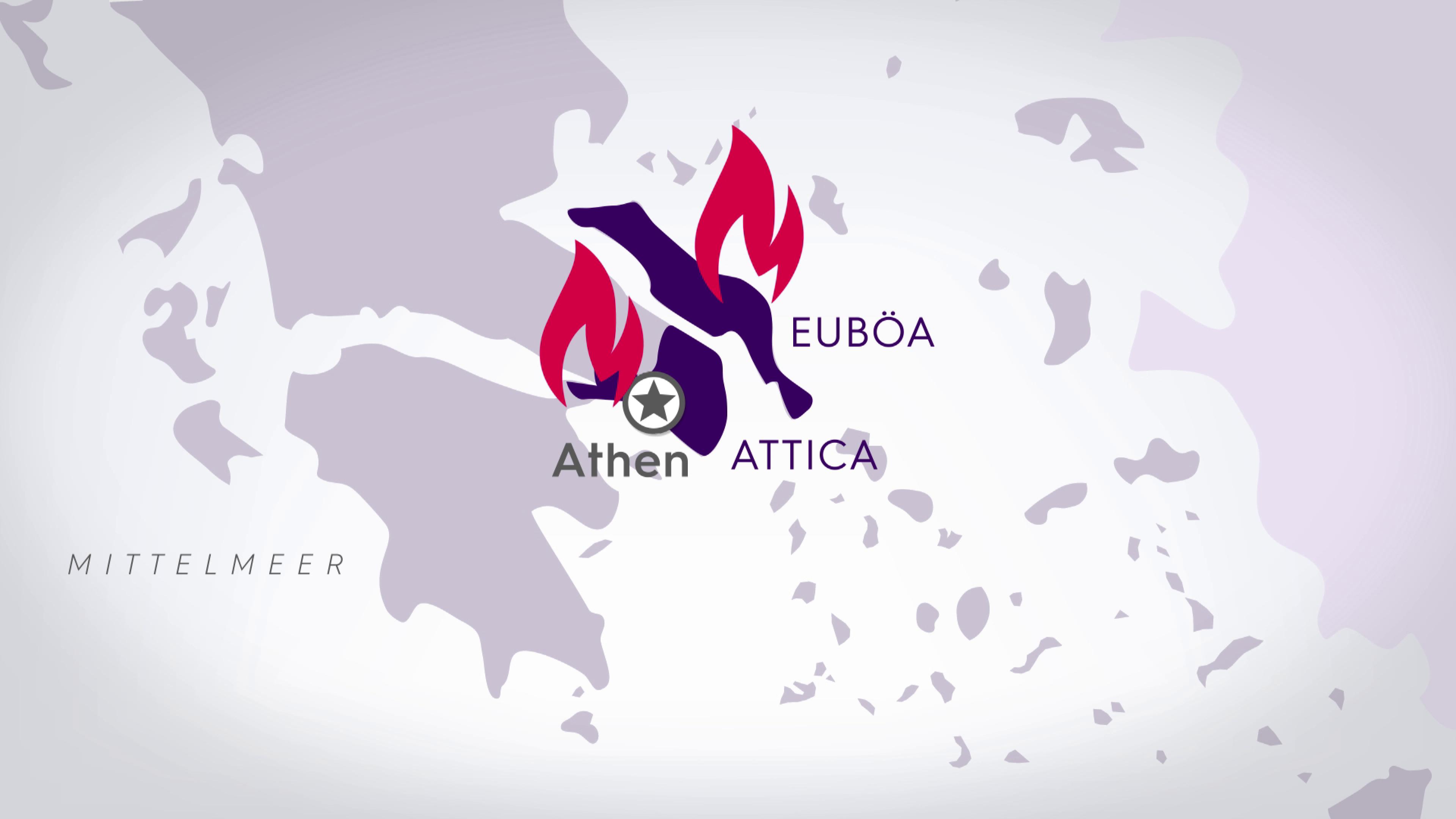 Brände in Griechenland Stand 10.08.2021