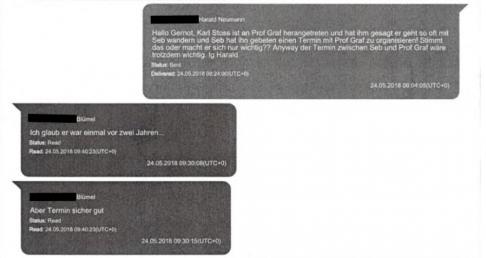 Gernot Blümel Harald Neumann Chat Protokolle