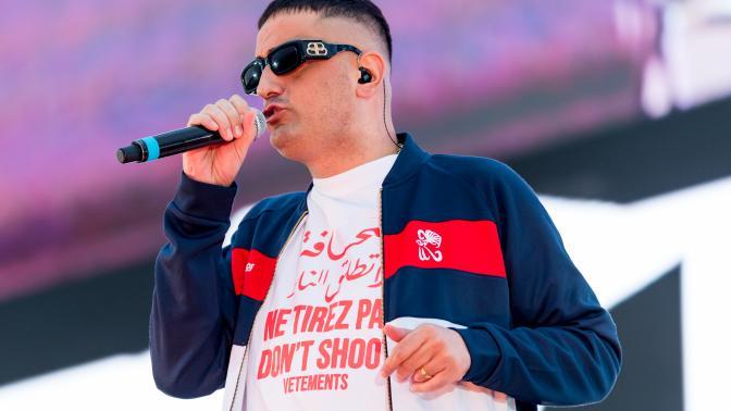 Rapper Haftbefehl beim CARStival 2010 in Mannheim